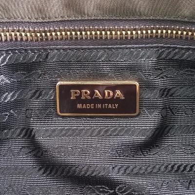 leather point shoulder bag khaki